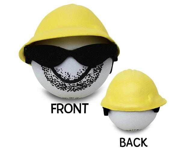 Byggarbetare Skäggstubb Antennboll
