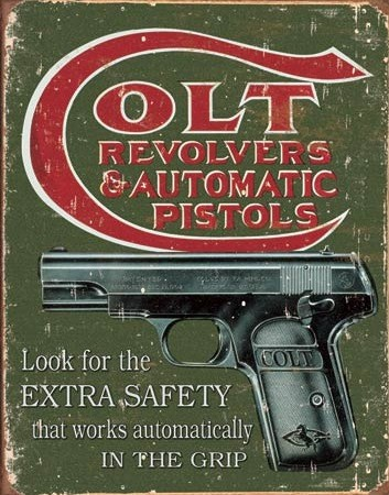 Colt Extra Safety – Retro Skylt