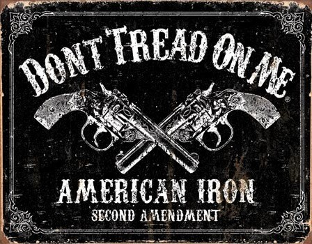 DTOM American Iron Second Amendment  – Retro Skylt