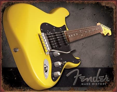 Fender Make History – Retro Skylt