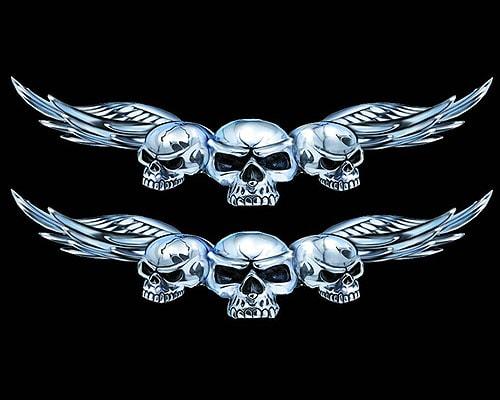 Sculls With Wings Liten – Dekal