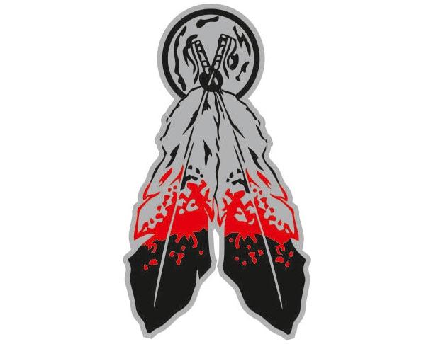 Indian Feathers - Metal Emblem