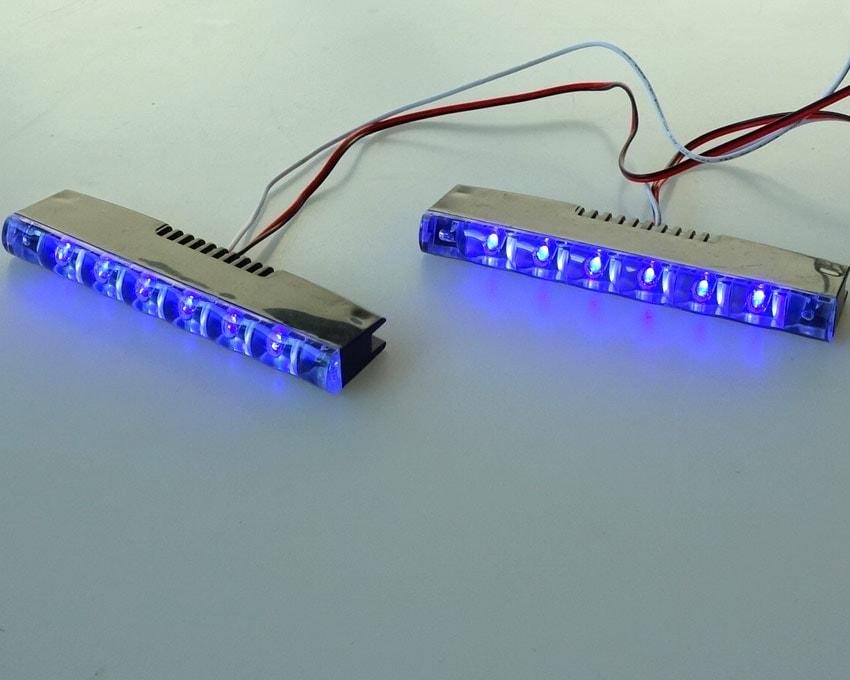 DRL LED Light Scan & Steady - Blå
