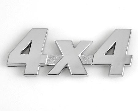 Emblem Chrome Style - 4x4