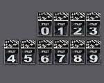 Kromade emblem/siffror