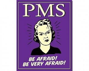 PMS Be Afraid! - Retro Skylt