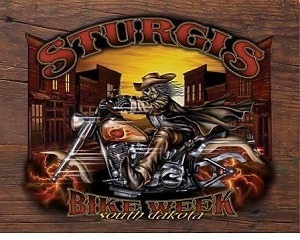 Sturgis Bike Week - Retro Skylt
