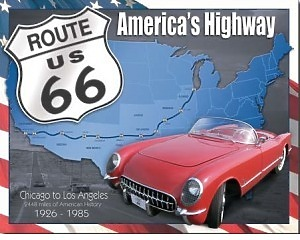 Route 66 1926-1985 - Retro Skylt