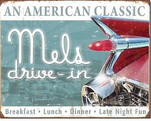Mels Drive In Classic - Retro Skylt
