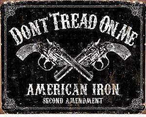 DTOM American Iron Second Amendment  - Retro Skylt
