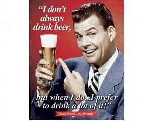 Stay Drunk - Retro Skylt