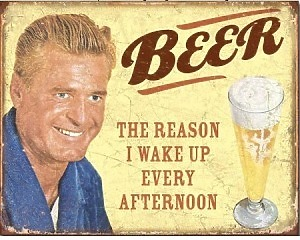 Beer The Reason - Retro Skylt