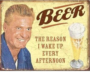 Beer The Reason - Retro Skylt