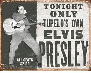 Elvis Presley Tupelos Own - Retro Skylt