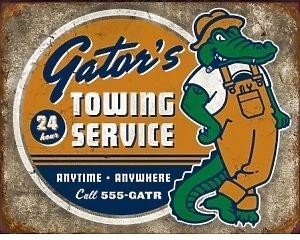 Torque Gator Towing Service - Retro Skylt