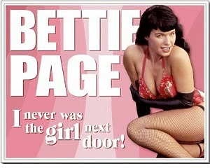 Bettie Page - Retro Skylt