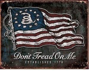 DTOM Vintage Flag - Retro Skylt