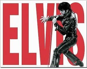 Elvis Presley Leather - Retro Skylt