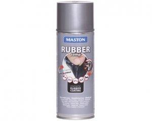 Rubber Comp, Maston Sprayplast - Metallgrå