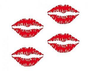 Kissing Lips Dekalkarta - 8x10