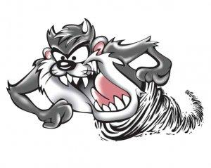 Tasmanian Devil Grey - Dekal