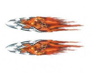 Flaming Tribals + Skulls - 8x30