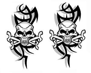 Skulls & Tibals - Dekal