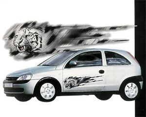 White Tiger x2 - Dekal