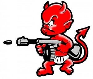 Devil Machinegun - Dekal