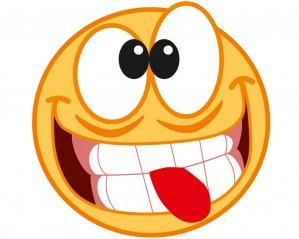 Smiley 9cm - Dekal
