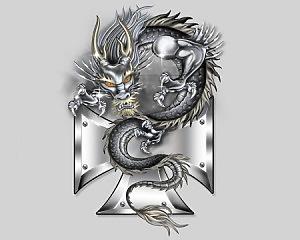 Dragon & Cross - 13x19