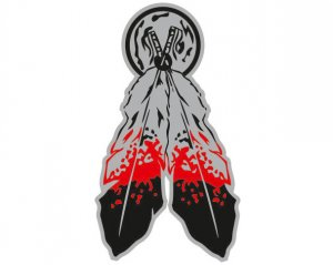 Indian Feathers - Metal Emblem