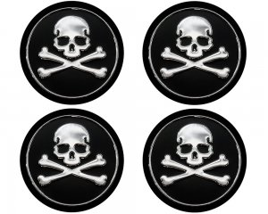 Alu Wheel Trim Skulls Bones