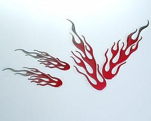 Liquid Flames Röd 4-pack