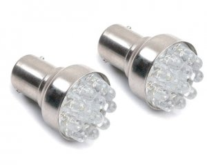 LED Glödlampa BA15s 12-LED Röd