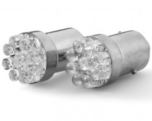 LED Glödlampa BA15s 9-LED Vit