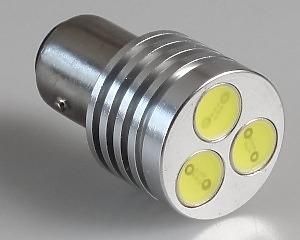 LED Glödlampa BA15S 3-led