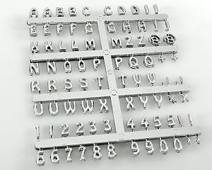 Kromade Tecken A-Y 0-9