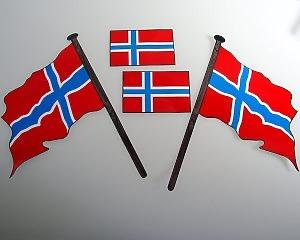 Flaggdekal - Norska Flaggan