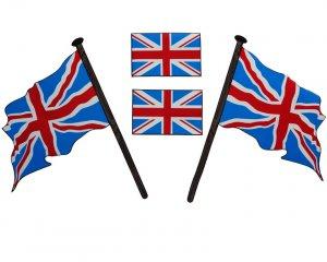 Flaggdekal - Engelska Flaggan