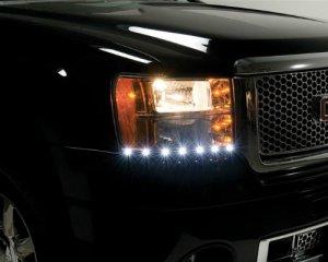 LED Headlight String, Vitt ljus, 50cm - 24 volt