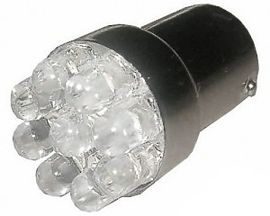 9 LED BA15S Glödlampa med Varningsljud - 24v