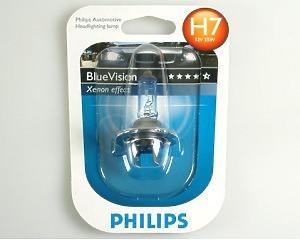 Glödlampa Philips Blue Vision H7