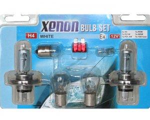 Lampset - Xenon White Glödlampor H4