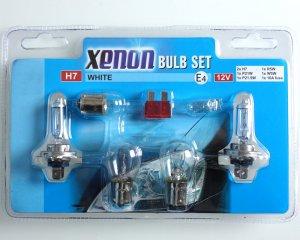 Lampset - Xenon White Glödlampor H7