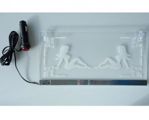 Plexi LED Plate Pin-up 24v