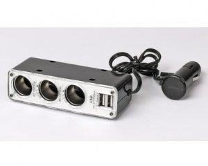 Tripple Socket Switch & Dual USB