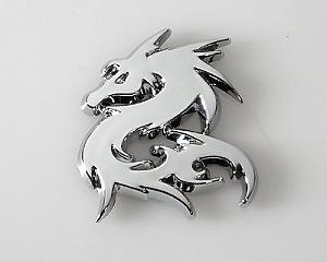 Emblem Chrome Style - Dragon
