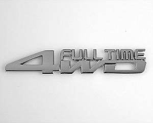 Emblem Chrome Style - Full Time 4WD