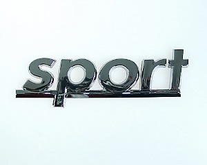 Emblem Chrome Style - Sport